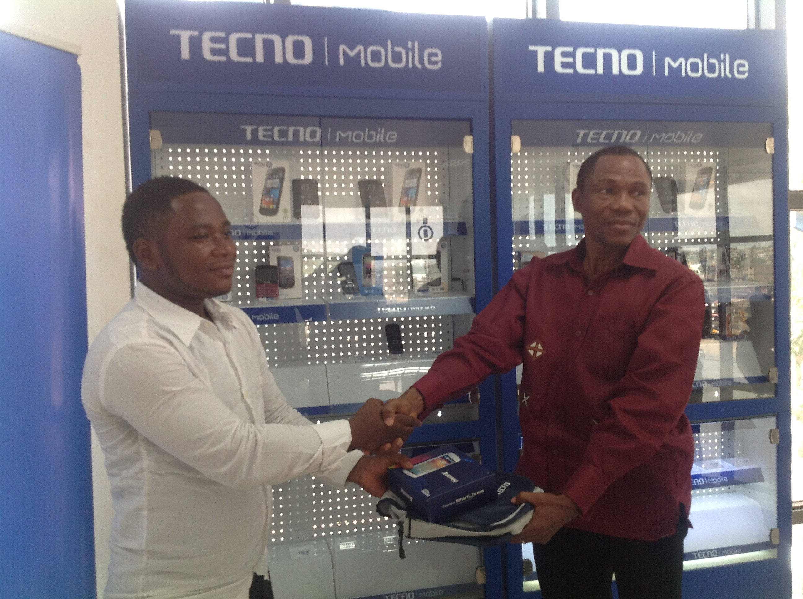 Tecno rewards users at Head Office in Accra