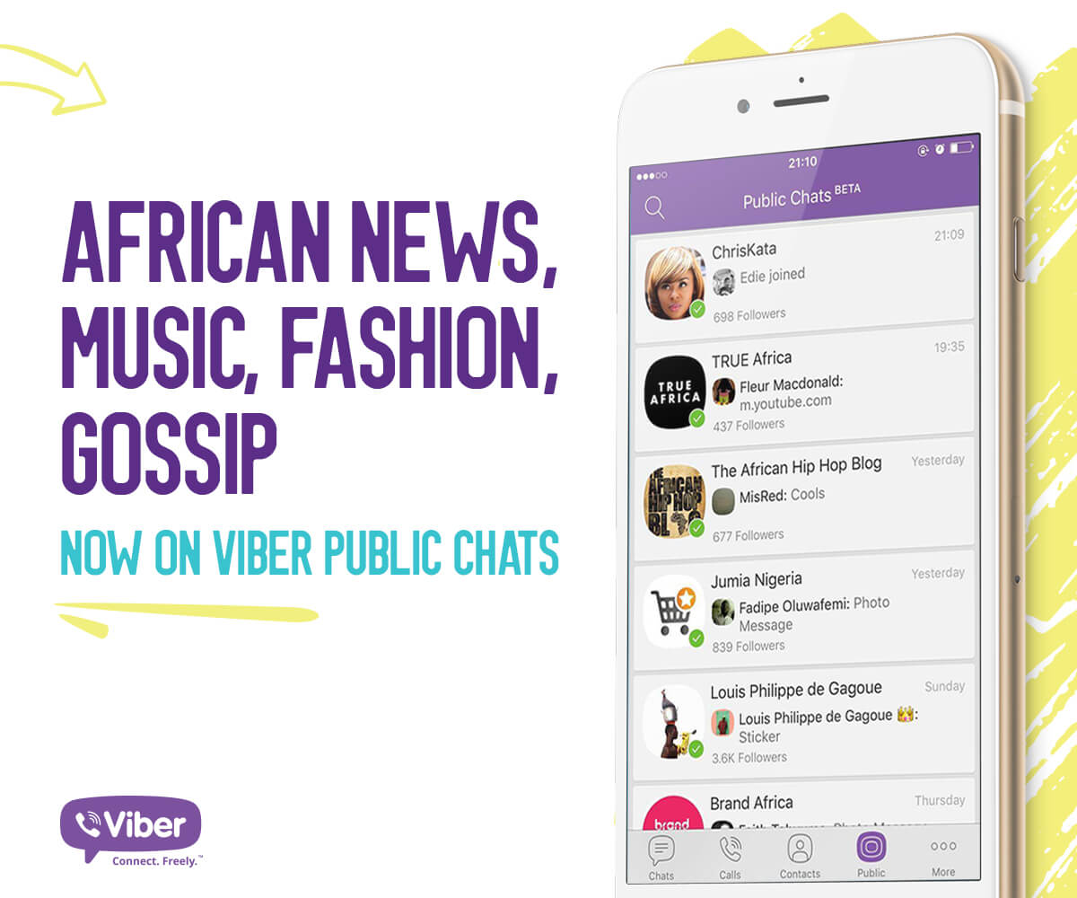 Viber Spreads Good Vibes in Africa  with the Introduction of Public Chats
